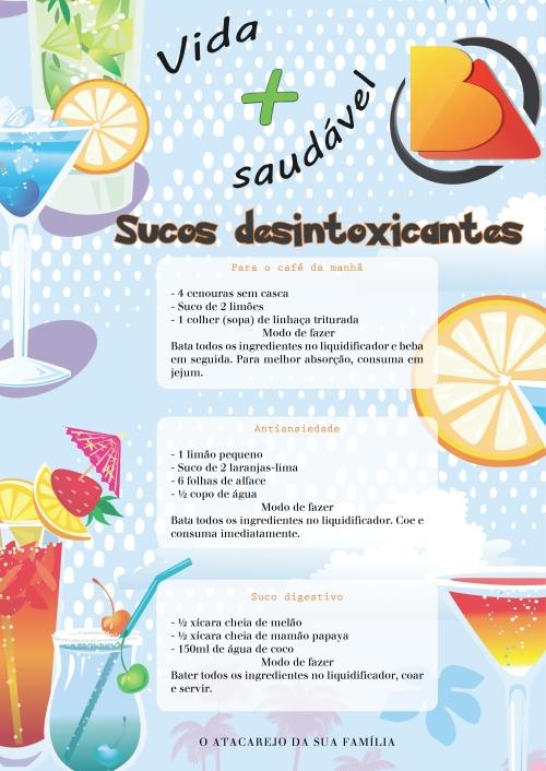 Sucos desintoxicantes