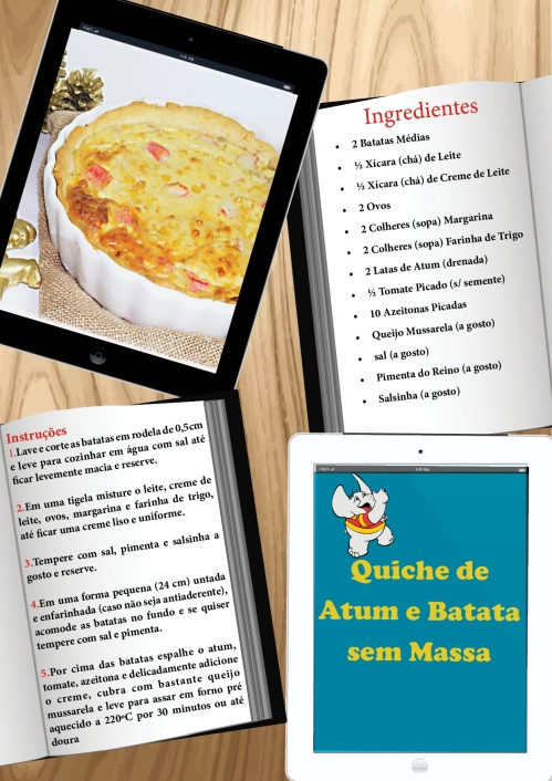 Chamada Quiche de Atum e Batata sem Massa